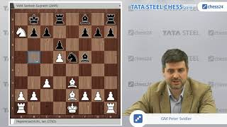 Nepomniachtchi - Vidit, Tata Steel 2019: Svidler's Game of the Day