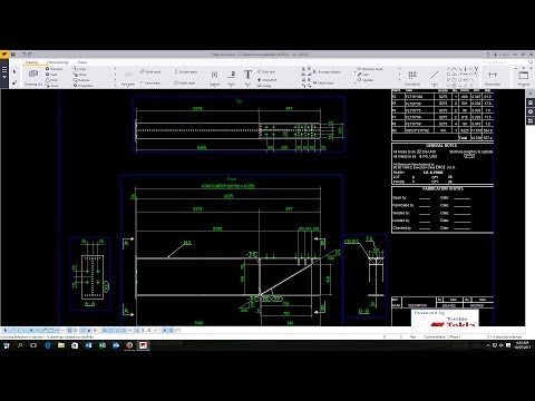 How To Create Drawings From Model And Changing Drawing View Settings In Tekla Structures 2017