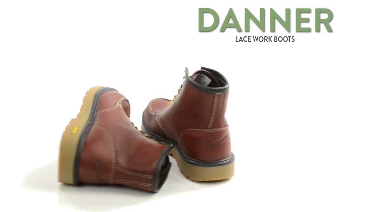 Danner Lace Work Boots - Moc Toe (For Men) - YouTube
