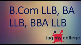 Difference between BA LLB, BBA LLB and B.Com LLB | Tagmycollege.com