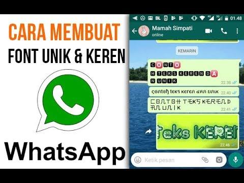 Cara Menulis Pesan dengan Huruf Keren di WhatsApp