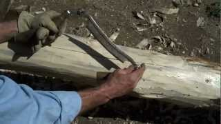 How-to Peel Log Newel Posts For Iron Railings By Mitchell Dillman