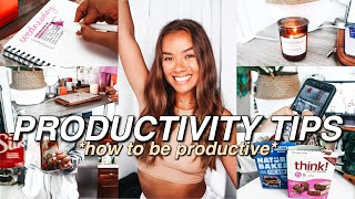 HOW TO BE PRODUCTIVE | 85+ Productivity Tips for School, At Home, HOW TO GET THINGS DONE!
