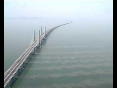 Nice top view of Penang Second Bridge