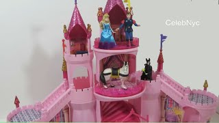 Disney Sleeping Beauty Deluxe Castle Playset - Princess Aurora Palace Maleficent Prince Charming