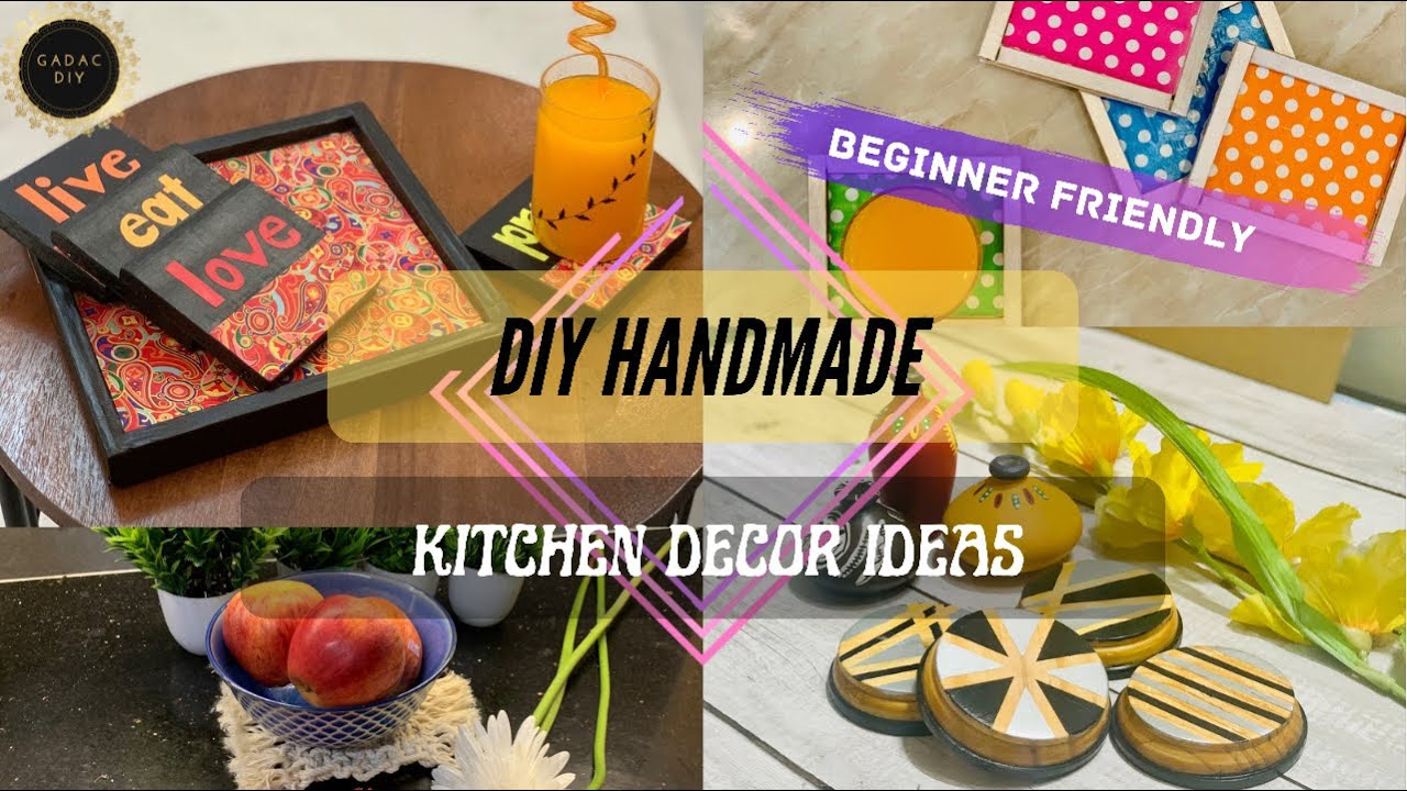 Let's do some Beginner Friendly Kitchen Decor Ideas   GADAC DIY  New Feel  Kitchen DIY Decor Ideas