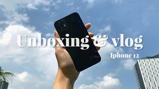 IPHONE 12 (black)  // unboxing & vlog , asmr ( subTH )🖤🐇