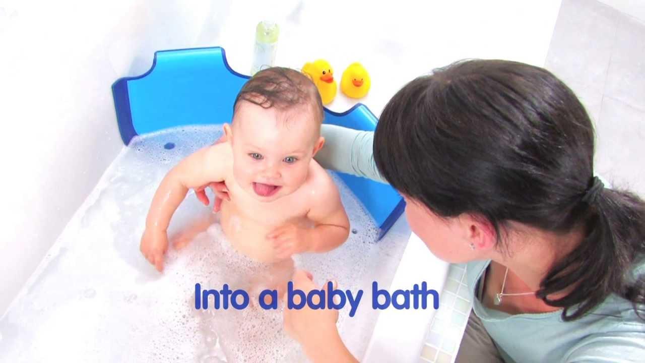 Réducteur De Baignoire Bathwater Barrier De Babydam Youtube