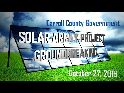 Solar Array Ground Breaking at Carroll Community College
