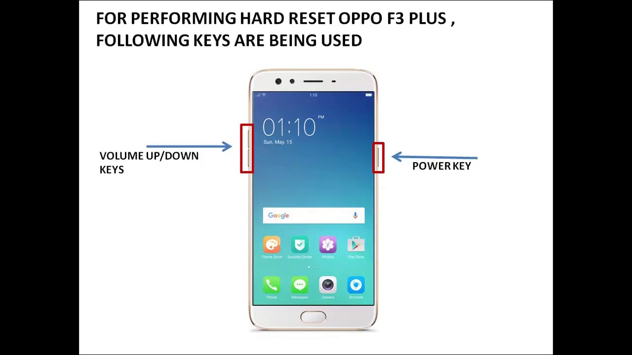 Oppo F3 Plus Hard Reset