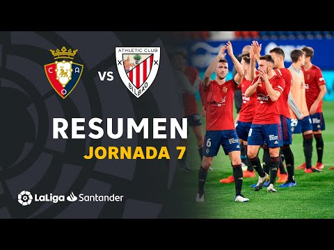 Resumen de CA Osasuna vs Athletic Club (1-0)