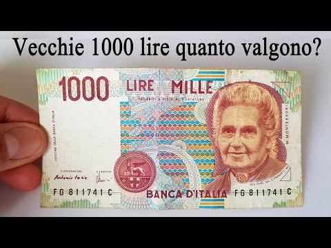Vecchie 1000 Lire Montessori Quanto Valgono?