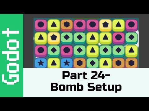 Part 24 - Bomb Setup: Make A Game Like Candy Crush Using Godot