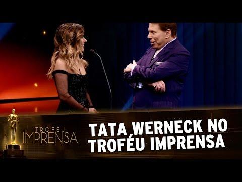 Troféu Imprensa 2017 - Tata Werneck faz bagunça no palco com Silvio