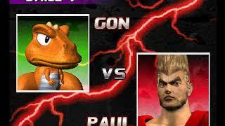 Tekken 3 ( PS1 ) - Gon - Arcade Mode - Original Music ( Aug 22, 2017 ) thumbnail