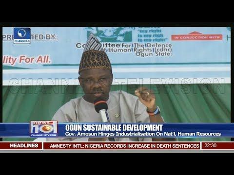 Amosun Hinges Industralisation On Nat'l, Human Resources