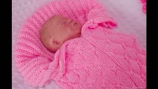 Конверт вязанный для новорожденного. Конверт - кокон