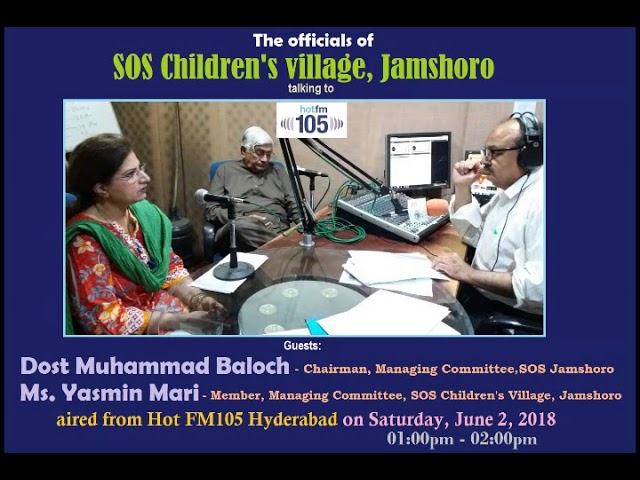 SOS Village Jamshoro officials in a dialogue with Hot FM105 Radio