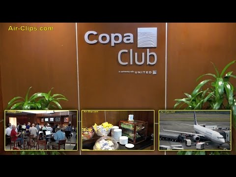 "Copa Airlines ""Copa Club"" Business Class Lounge Panama Tocumen Airport [AirClips]"