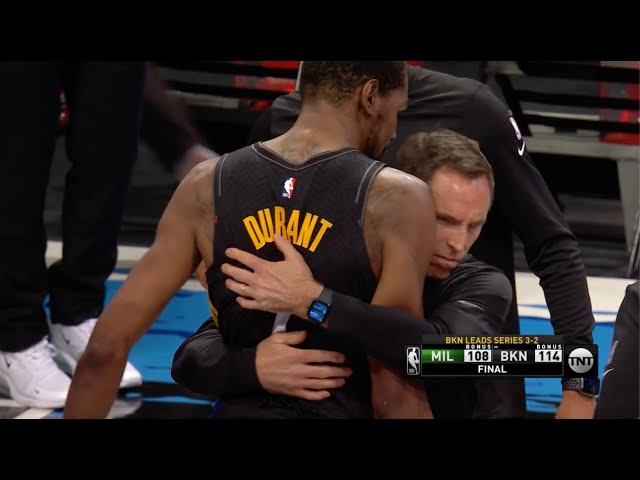 Steve Nash's Hug With Kevin Durant Turned Into A Meme After Game 5 Win