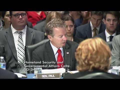 Sen. Rand Paul Speaks on REINS Act During HSGAC Markup - May 17, 2017