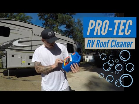 RV roof care and cleaning using PRO-TEC