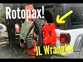 Rotopax mount on Jeep Wrangler JL by Rockslide Engineering