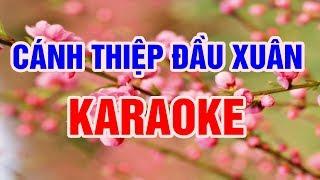 Cánh Thiệp Đầu Xuân - Karaoke Nhạc Sống Thanh Ngân