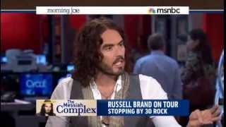 Repeat youtube video Russell Brand Hijacks MSNBC Morning Joe and Shows Them How to do Their Job - June 17, 2013