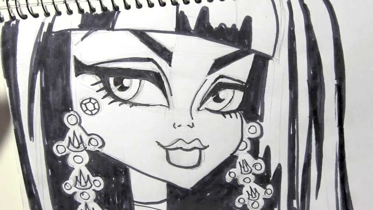 Cómo dibujar a Cleo de Nile de Monster High - Dibujos para Pintar ...