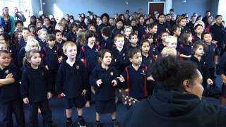 Waihi Central School singing two waiata