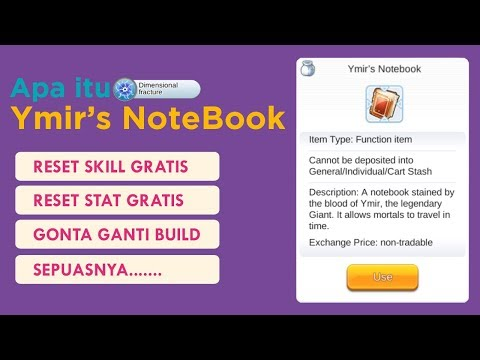 Reset Skill Gratis Sepuasnya!! Apa itu Ymir Book Ragnarok Mobile Eternal Love
