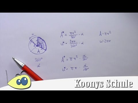 Kreisausschnitt und Kreisbogen from YouTube · Duration:  5 minutes 1 seconds