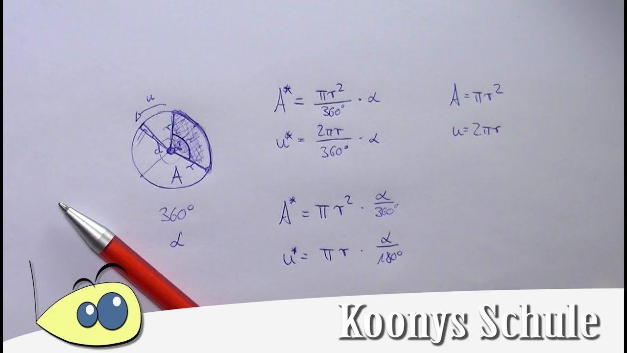 Kreisausschnitt und Kreisbogen - YouTube
