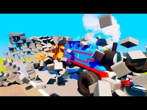 Lego Thomas Monster Train Vs Wall - Brig Rigs |