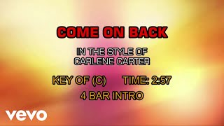 Carlene Carter - Come On Back (Karaoke)