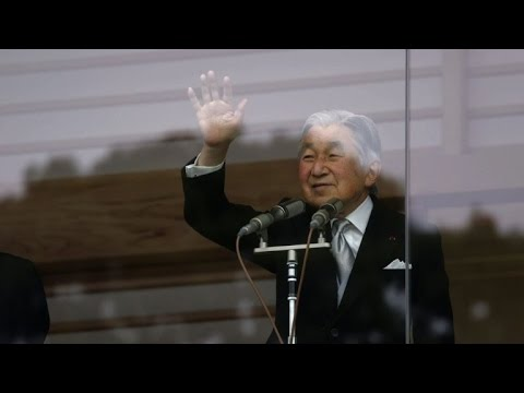 Thousands celebrate Japanese Emperor Akihito's 82nd birthday