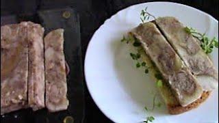 Прессованное мясо из свиной рульки ./Рулька рецепт ./Как приготовить рульку .