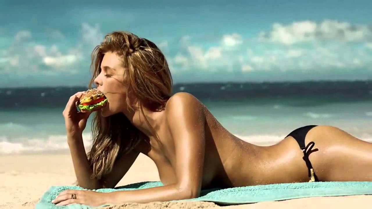 girl carls jr in commercial bikini