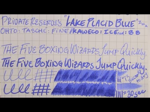 """Ink Re-Review: Private Reserve's """"Lake Placid Blue"""" Ink"""