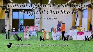 Finnish Afghan Hound Club's Unofficial Club Show 2019