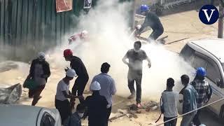 La represión en Birmania deja al menos seis muertos en el día más sangriento