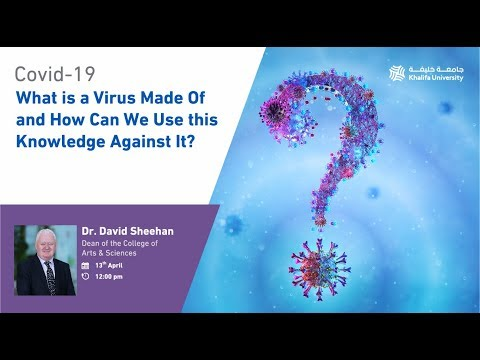 Virtual Live Lecture by Dr. David Sheehan on COVID-19 Virus Biomolecules