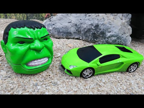 Super Sports Toy Car Got Into Accident with Superhero Toys | Trum Trum Cars