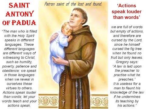O GREAT SAINT ANTONY PRAY FOR US  - Thank you Fr. Corapi..