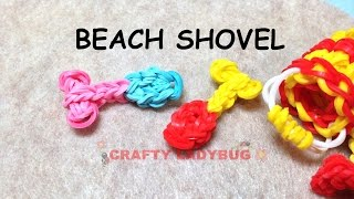 New Rainbow Loom Band Beach Shovel Easy Charm Tutorials By Crafty Ladybug /how To Diy