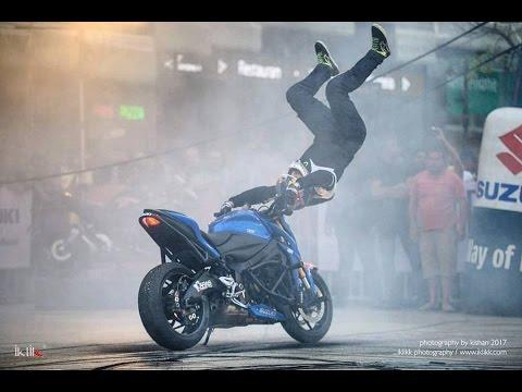 Suzuki Gixxer 2018 Launch with Stunt Rider - ARAS GIBIEZA