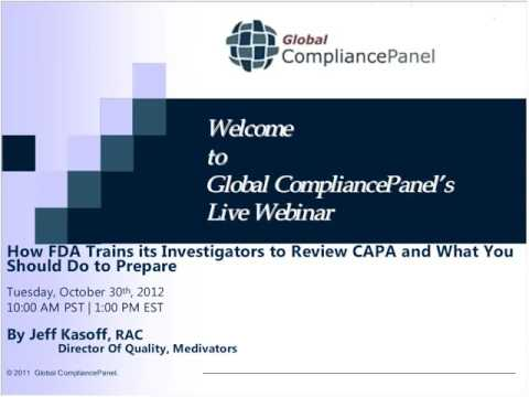 How FDA Trains its Investigators to Review CAPA and What You Should Do to Prepare