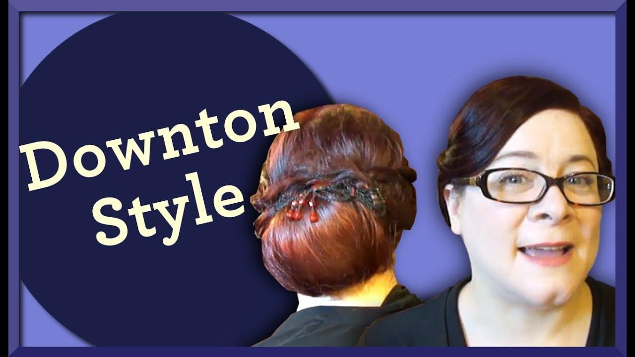 Downton Abbey Series-Lady Mary Crawley Vintage Hair Tutorial - YouTube