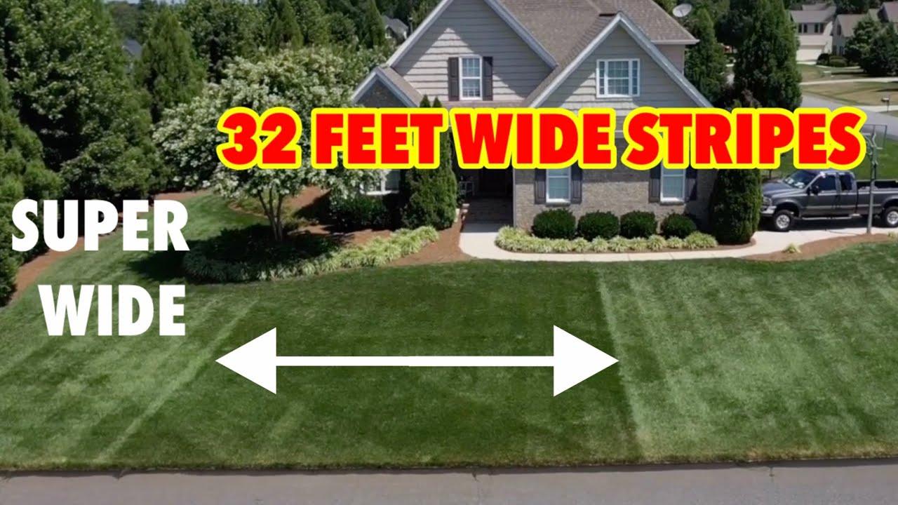 32 Feet SUPER WIDE Lawn Stripes NEW Lawn Striping Pattern
